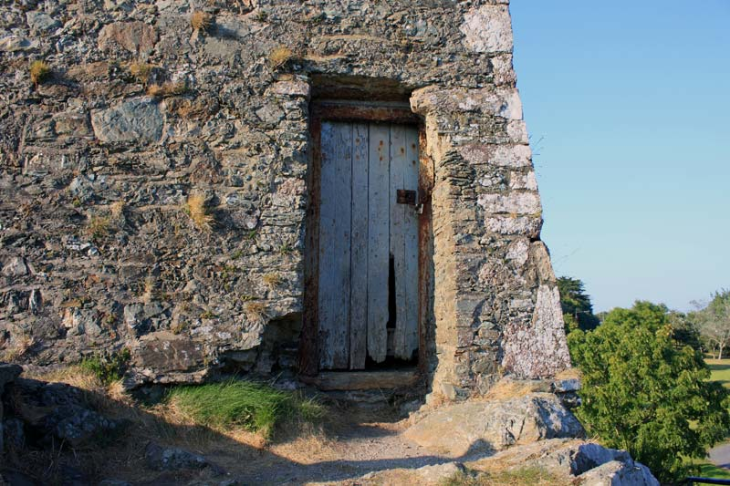 Door of the tower house.