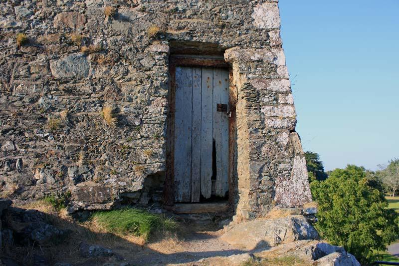Door of the tower house.