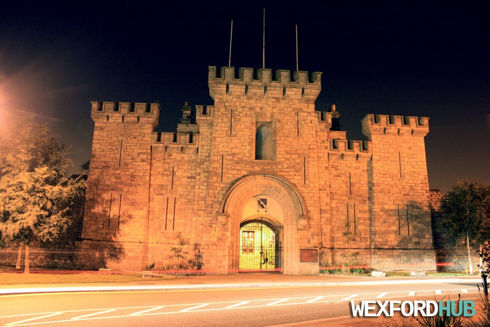Entrance to the old courthouse in Wexford.