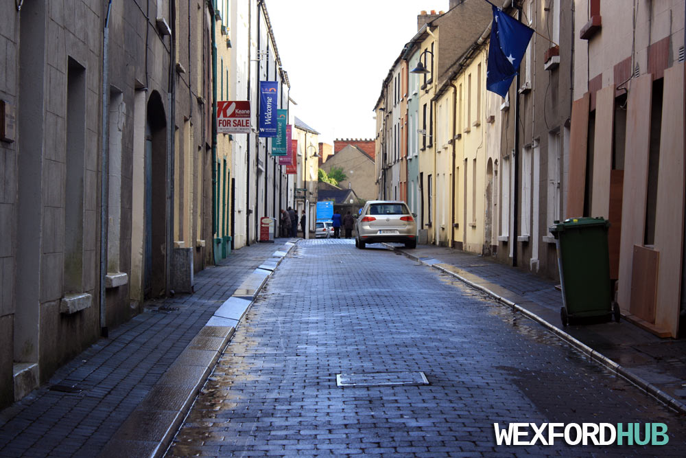 High Street, Wexford, after it had rained.