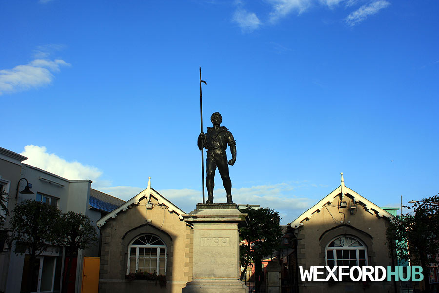 The Pikeman statue in The Bullring, which was sculpted by Irish nationalist Oliver Sheppard in 1905.
