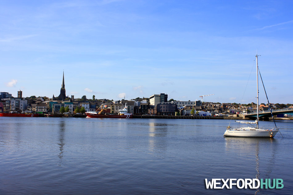 Wexford Quay, taken from the shore across the bridge.