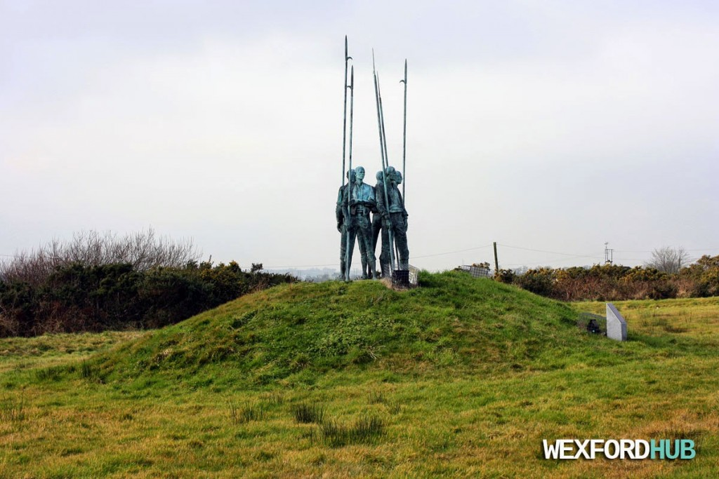 A statue in Barntown commemorates the Pike Men.