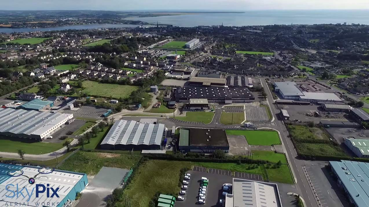 Watch aerial footage of wexford town for The wexford