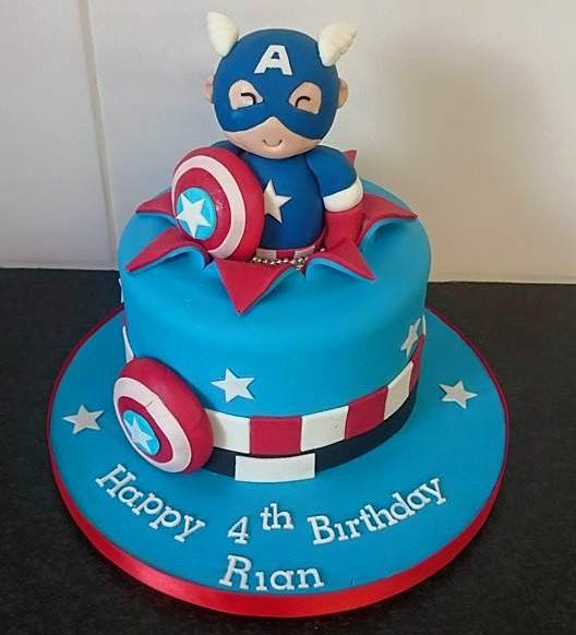 Captain America Birthday Cake Design