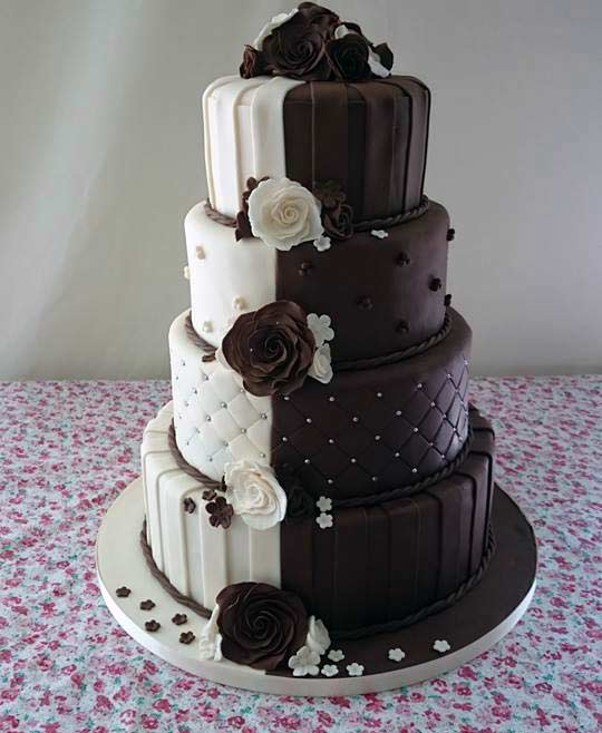 half chocolate and vanilla wedding cake cakes wexford weddings birthdays christenings 15049