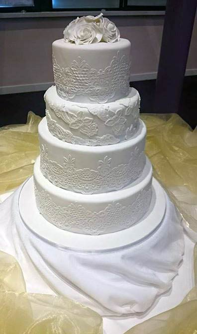 A wedding cake that was made by Wexford-based company Jenny's Cupcakes.